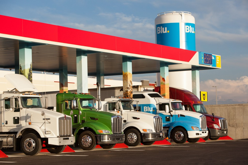LNG Trucks at station